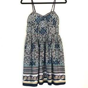 American Rag | Blue Paisley Boho Strap Dress
